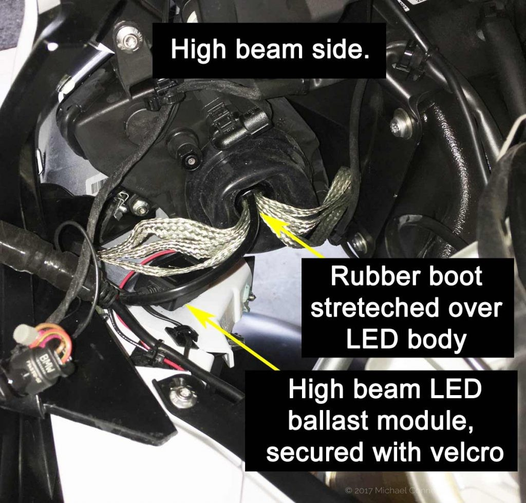 How To Bmw S1000xr Led Lighting Upgrades Free Time Kc Lights Wiring Diagram Highbeem Photo Credit Jerry Skene 8 Closing The Headlight Assembly
